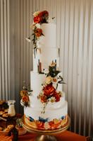 Kristin + Tyler | Cake Florals