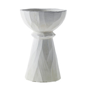Tall Plaster Compote