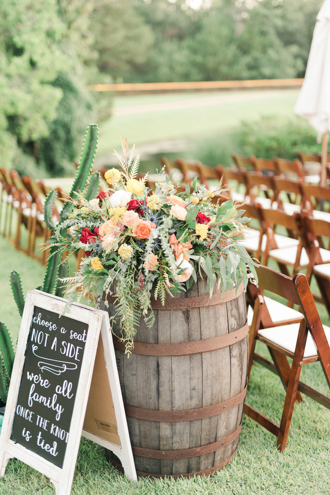 How to Style Wine Barrels at Your Wedding