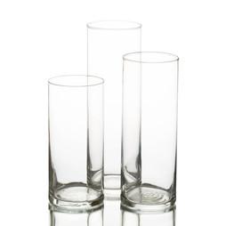 Clear Vase Trio Set