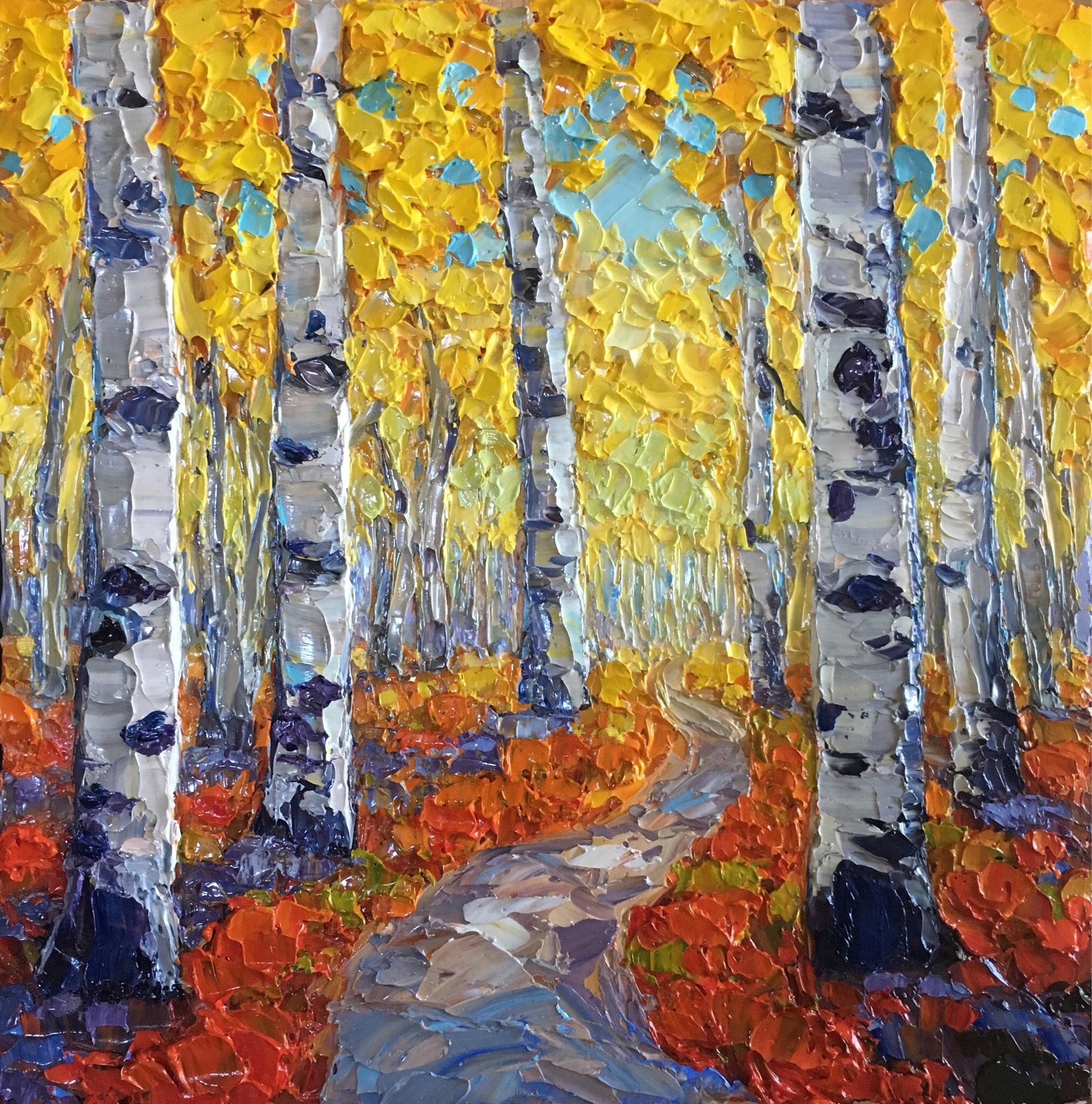 Fall Aspen Path