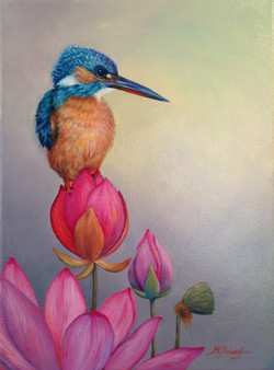 Kingfisher and Lotus