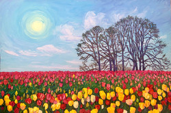 Love In A field Of Tulips ( Commission)