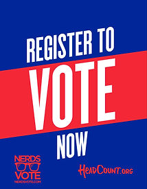 NerdsVote-National Voter Registration Day-blue