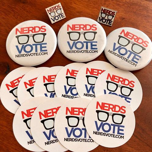 NerdsVote Logo Pin Pack