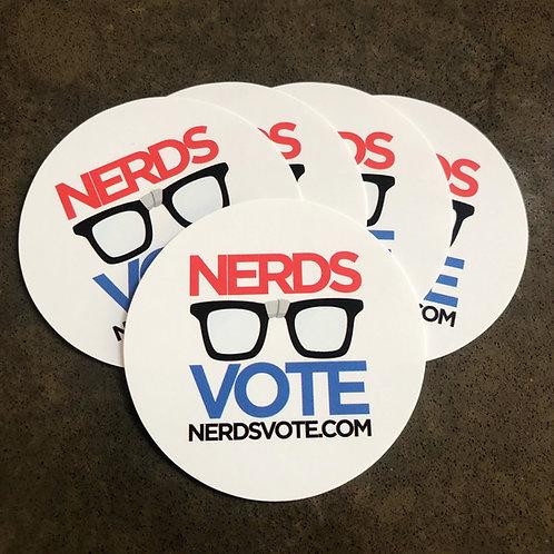 NerdsVote stickers (5-pack)