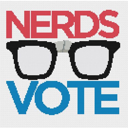 NerdsVote classic logo cross-stitch chart!