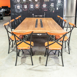 4x9' Meeting Table with USB Chargers