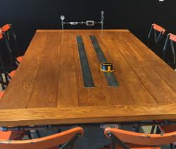 Fine wood meeting table