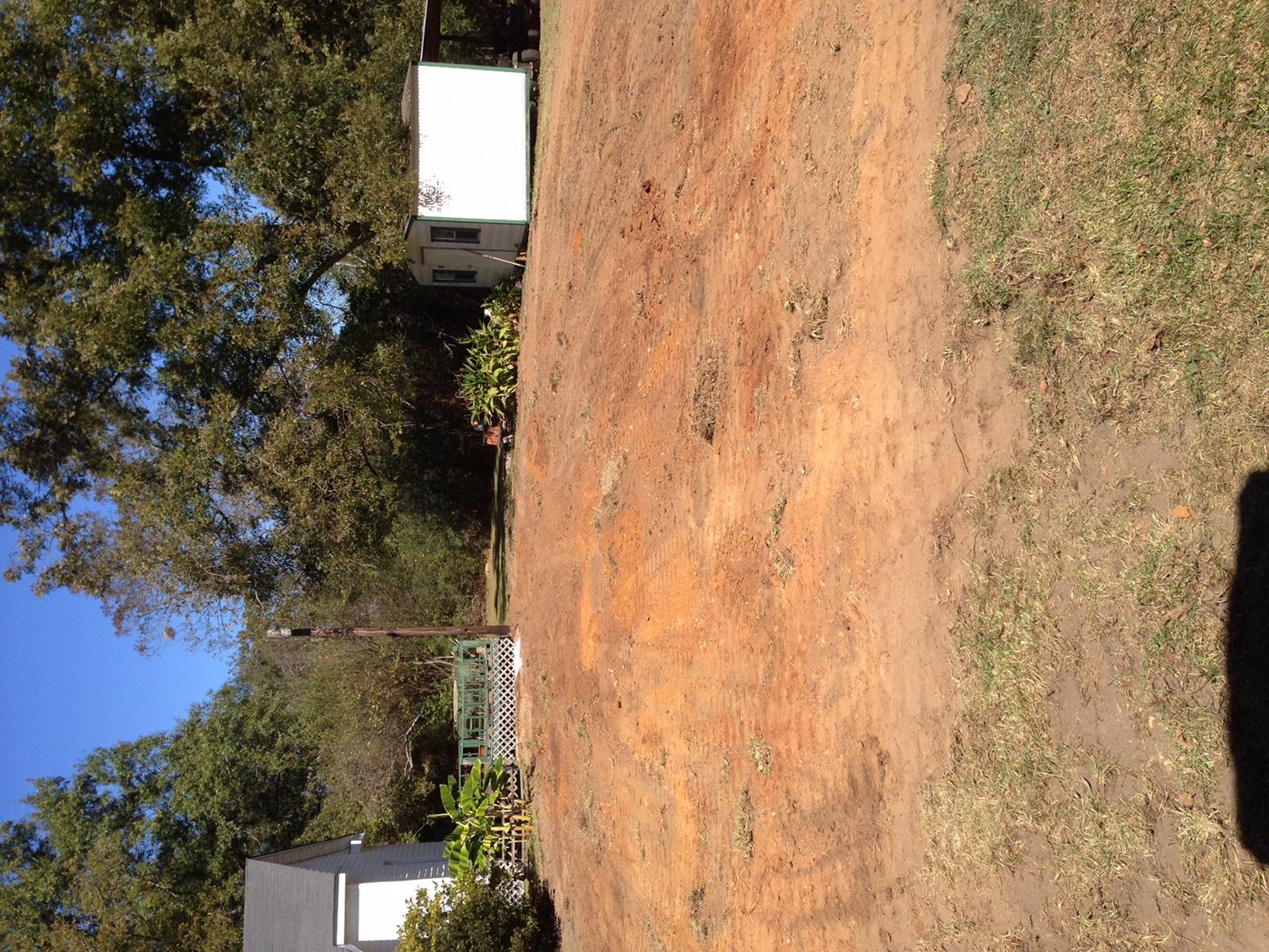 before soil work