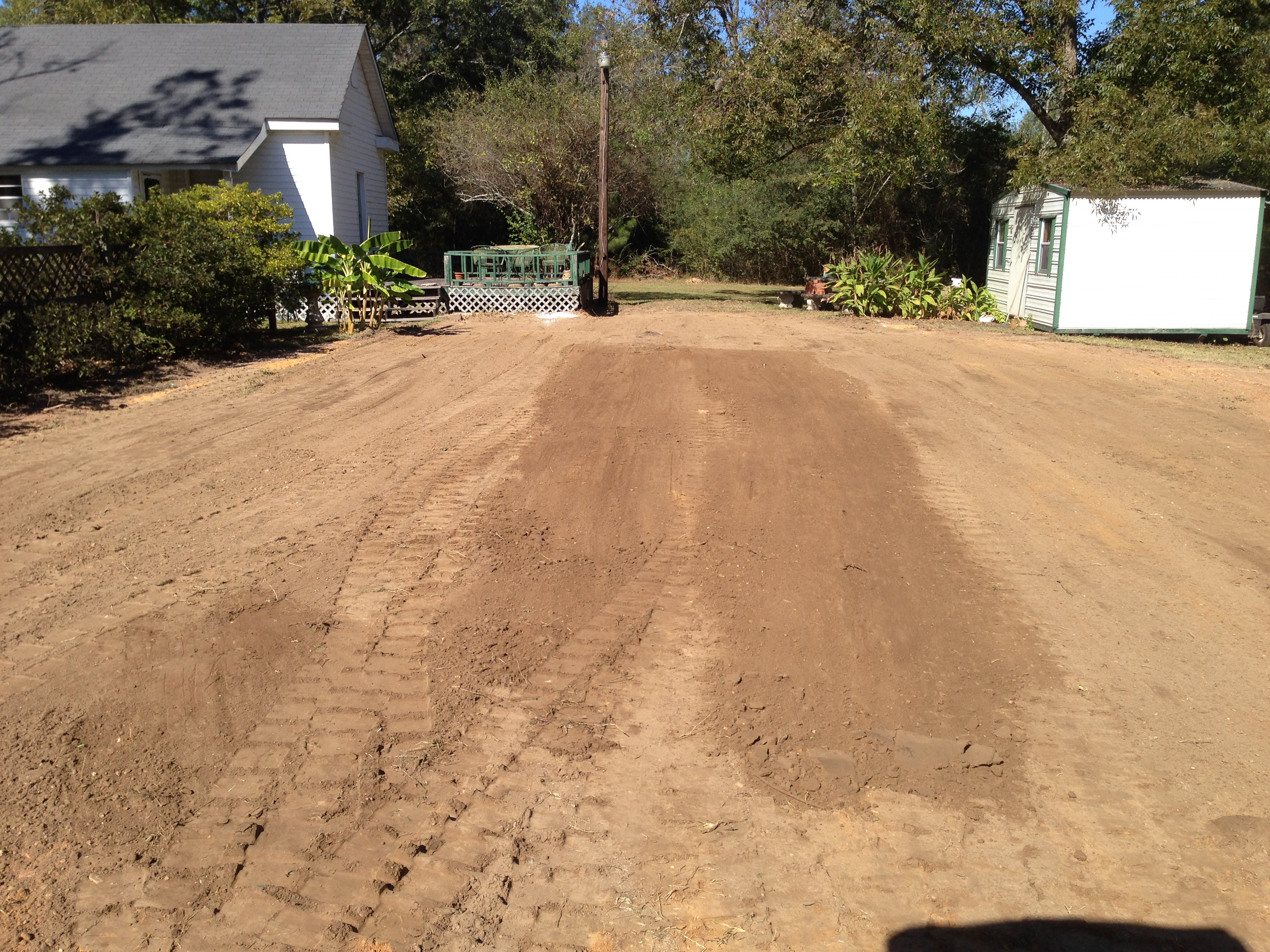 after soil work