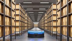 השימוש של רובוטים ניידים אוטונומיים במחסן