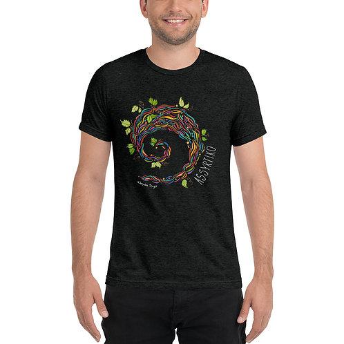 Assyrtiko T-shirt Greek Wine inspired designs Santorini Art by Kleopatra Bright
