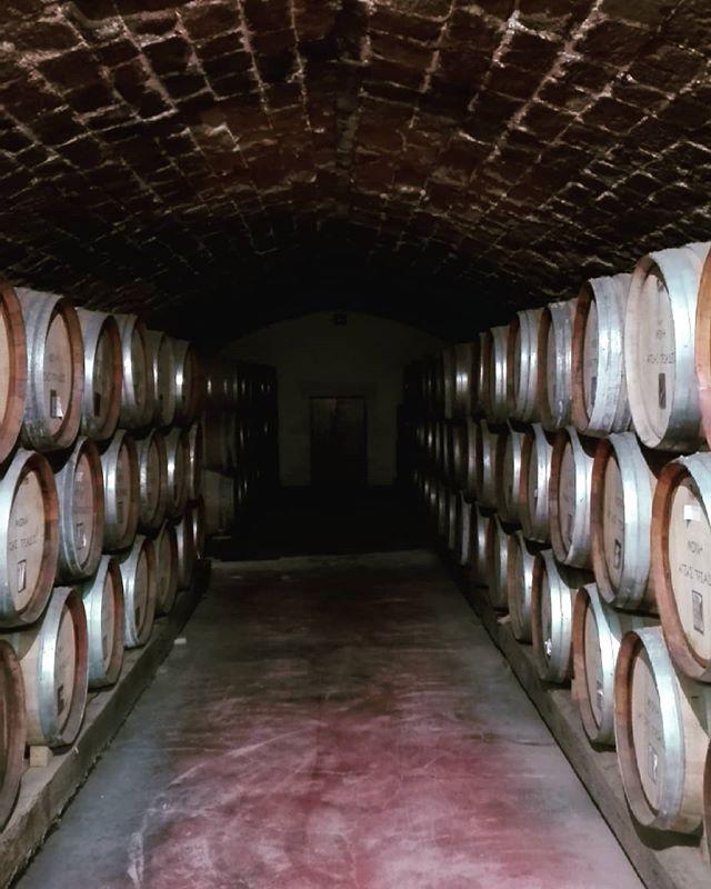 The barrel room at Agia Triada Monastery