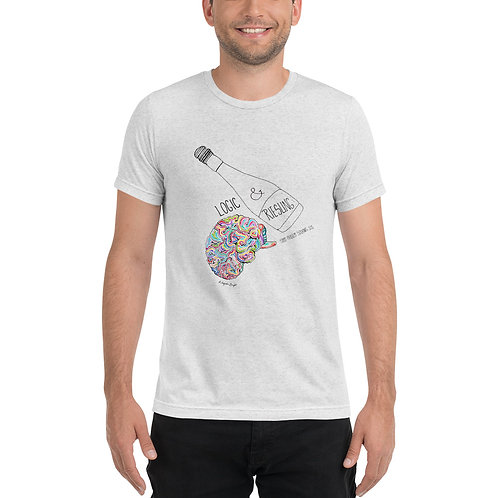 Logic & Riesling Sommelier Problem Solving Greek wine inspired T-shirt Art by Kleopatra Bright