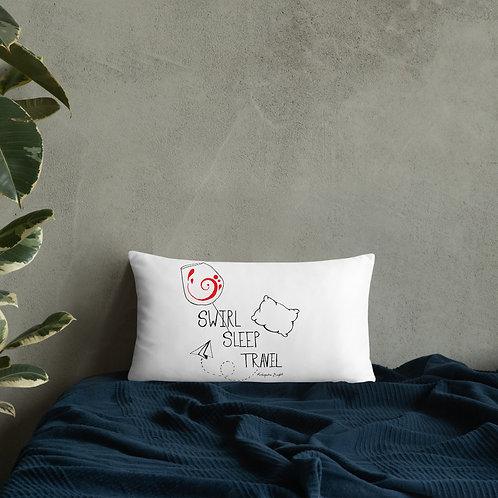 Swirl Sleep Travel Pillow Art by Kleopatra Bright  Greek wine inspired designs