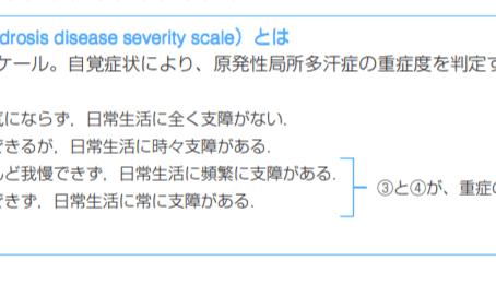 多汗症の重症度スケールについて CLINIC N東京銀座 ミラドライ多汗症・ワキガ治療