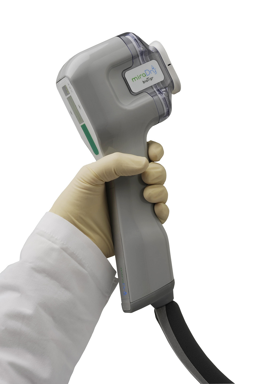 ミラドライ 照射のハンドピース CLINIC N クリニックN 東京銀座 ワキガ多汗症治療
