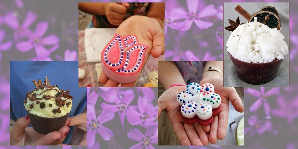 София: Пролетна работилница (Свещи Мъфин + Цвете)