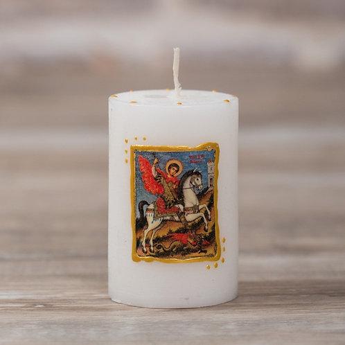 """Свещ-икона """"Св. Георги Победоносец"""""""