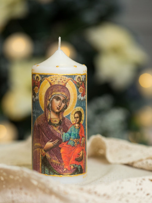 "Свещ-икона ""Св. Богородица Вратарница Иверска"""