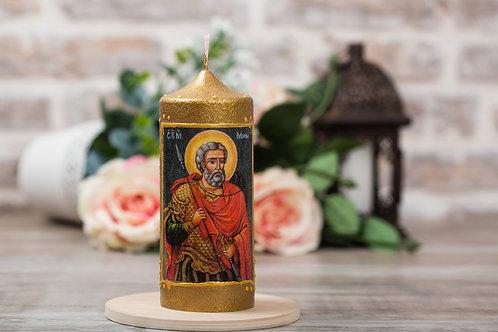 """Свещ-икона """"Св. Мина"""""""