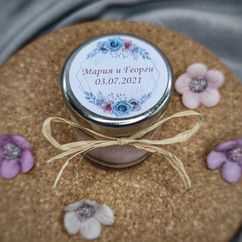 Свещ-подарък за гости за сватба