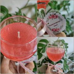 Свещ във формата на чаша ароматно Розе