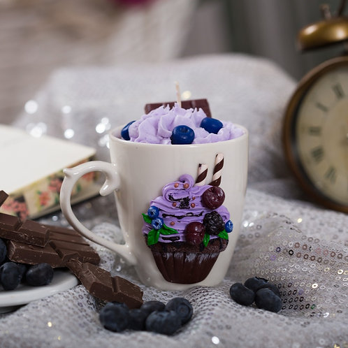Blueberry Cupcake Hot Cocoa