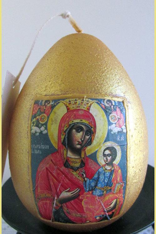 """Великденско яйце -икона """"Св. Богородица"""""""