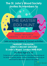 Chocolate + Cricket = Easter Egg Hunt!
