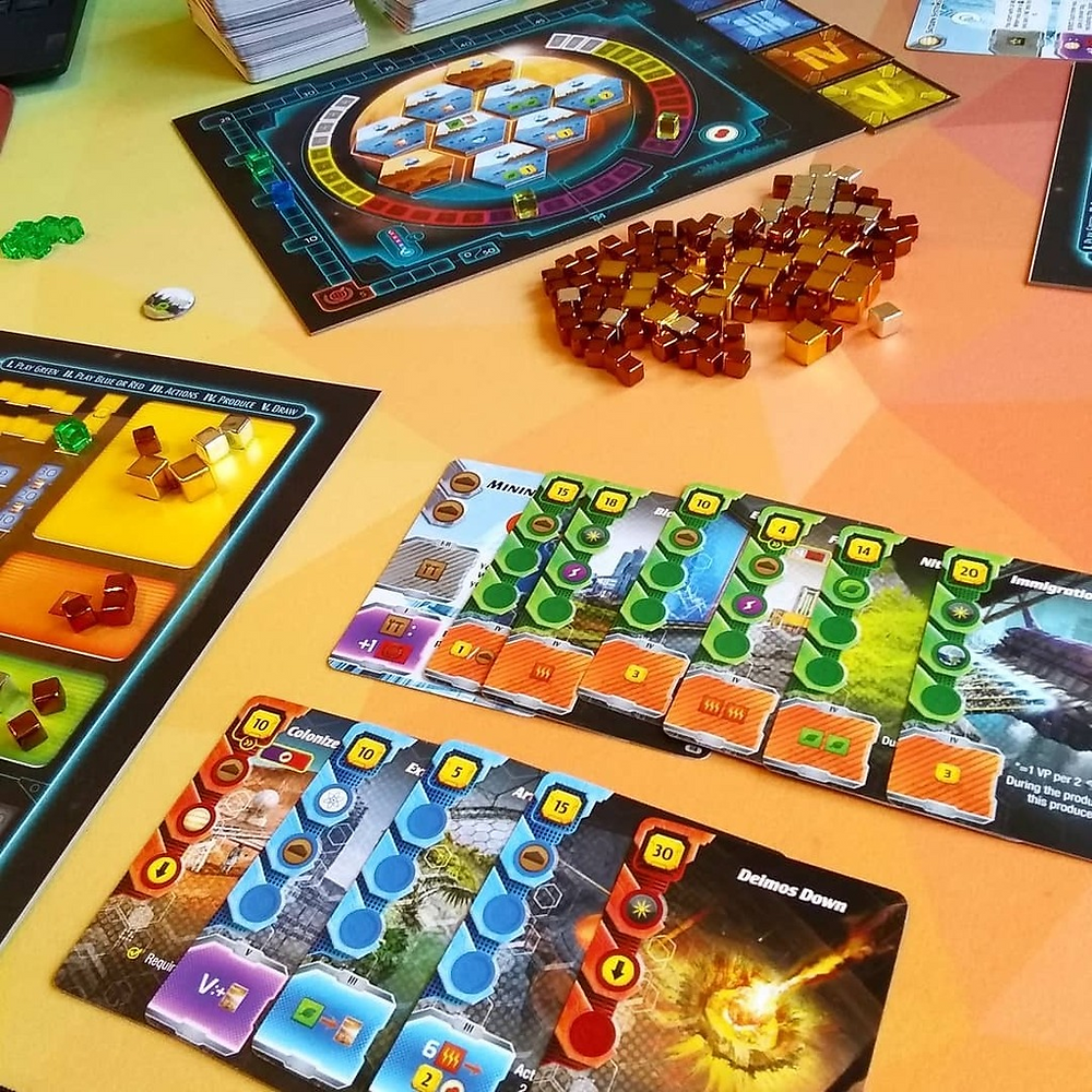 A game of Terraforming Mars Ares Expedition in progress