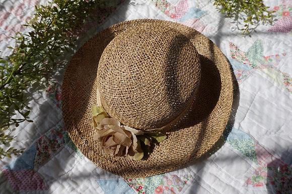 Vintage Cottage Wicker Hat