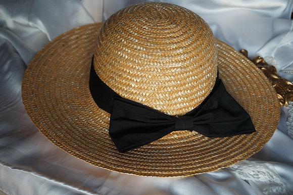 Cottage Bow Wide Rim Hat