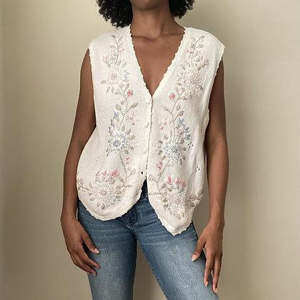 Vintage Cottage Sweater Vest (large fits like medium)