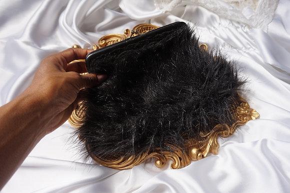 Faux Fur Formal Clutch