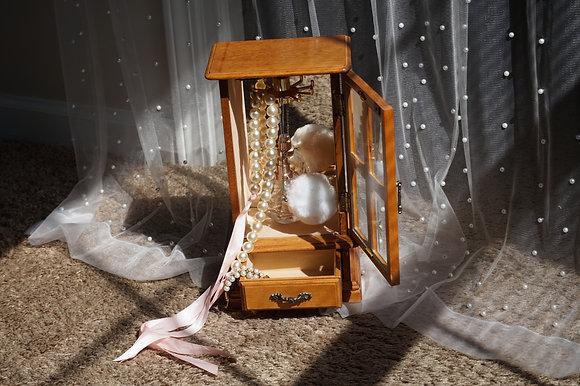 Cottage Princess Wooden Jewelry Box