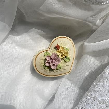 Floral Heart Ceramic Jewelry Box