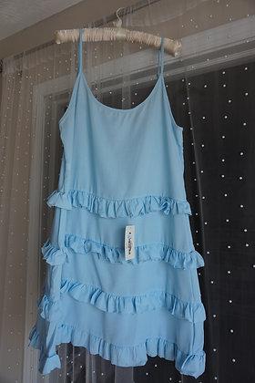 Baby Blue Ruffle Dress (extra large)