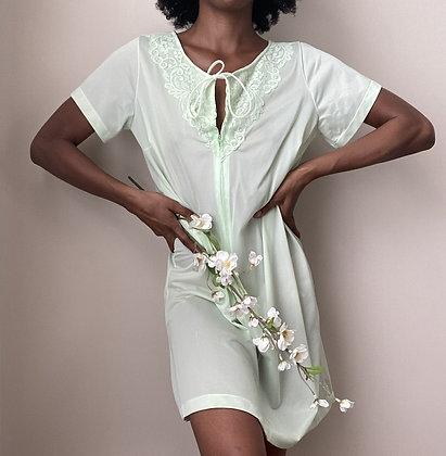 Tiana Green Satin Nightgown (s/m)