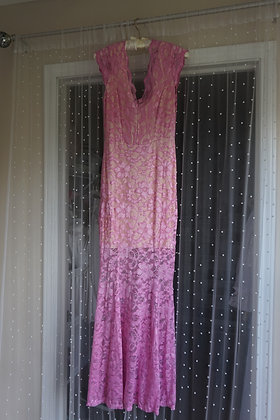 Pink Lace Fairy Maxi Dress (small)