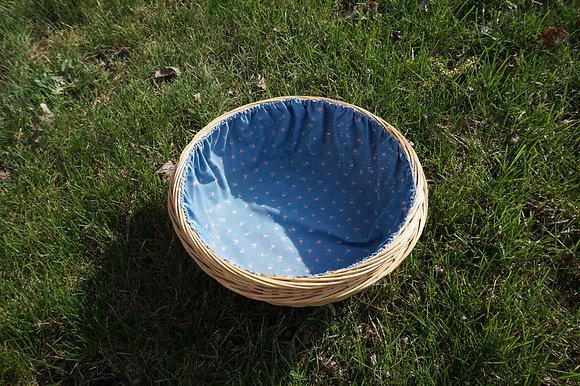 Blue Floral Circle Basket