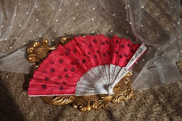 Passionate Princess Hot Pink Hand Fan