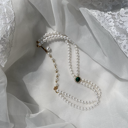 Queen Elizabeth's Pearl Jade Necklace