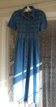 Vintage 90's Denim Dress (size: 4, fits like a 2)