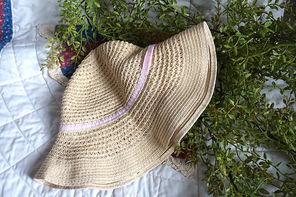 Pink Ribbon Cottage Bucket Hat ( extra small )