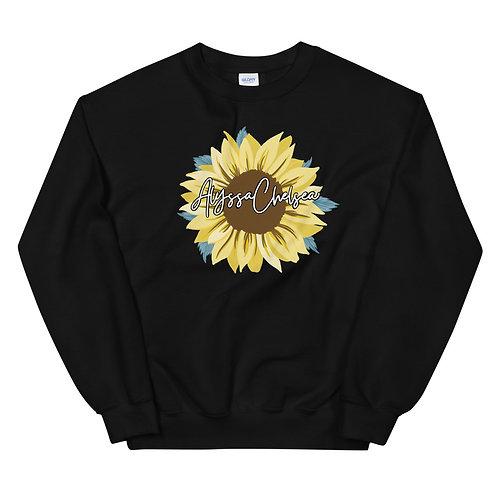 Official Alyssa Chelsea Sunflower Crew Neck Sweatshirt