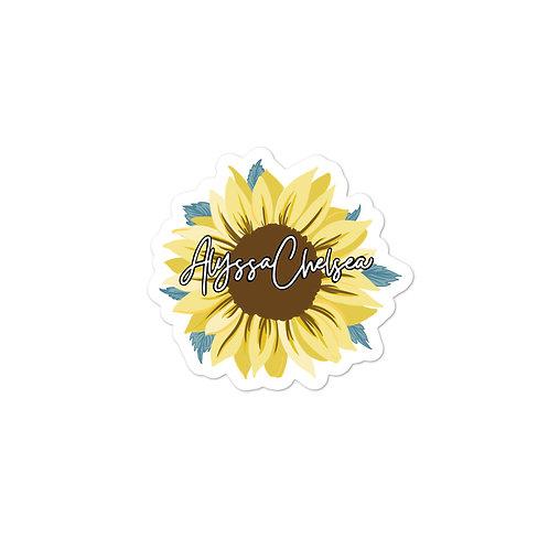 Official Alyssa Chelsea Sunflower Sticker