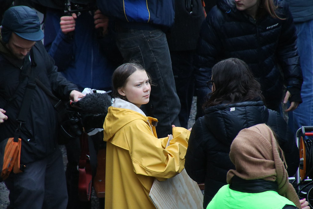 Greta Thunberg, a 16-year-old climate activist from Sweden inspired millions of her peers to join her . Photo from Ulrica Loeb on Flikr.