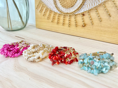 Bracelet perles naturelles